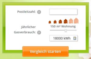 Nötige Daten zu Ihrem persönlichen Gaspreisvergleich